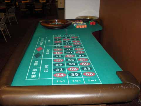 Roulette table at a casino night in Tucson